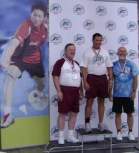Winning the bronze in Badminton 2008