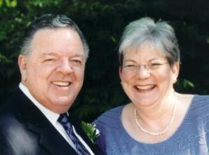 Jim & Pam on wedding day, 2005