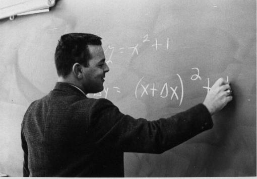"""Mister Gleason"" at the blackboard (1968)"