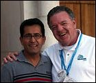 Gil and I in 1996 meet at the donor recognition ceremonies in Fla