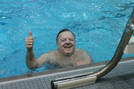 TGA 2012 Jim in pool thumbs up