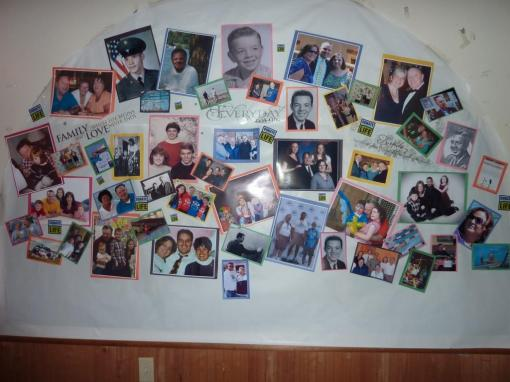 pictures from over the years with family and friends at the party