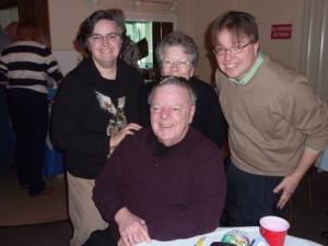Daughter, Susan, and husband, Chris (sister Betsy partially hidden)