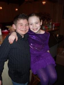 grandchildren, Caleb & Keira, party 'bartenders'