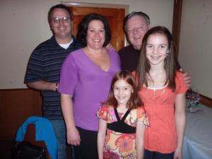 Son Michael and some of his family (Shane was home sick)