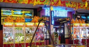 Seaside amusement machines