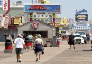 seaside boardwalk scene 2015